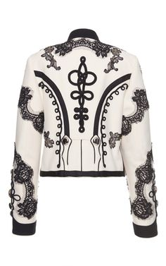 Lace Embellished Military Jacket by DOLCE & GABBANA for Preorder on Moda Operandi
