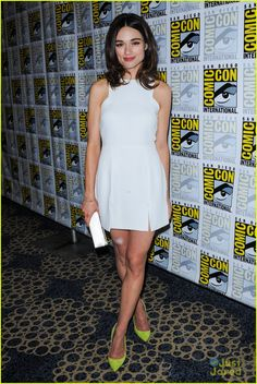 Crystal Reed attend a Teen Wolf panel during 2013 San Diego Comic-Con