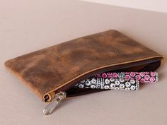 Large Leather Pencil Case at Scaramanga Leather Pencil Case, Leather Pouch, Stocking Fillers, Leather Accessories, Vintage Leather, Special Gifts, Zip Around Wallet, Take That, Vintage Fashion