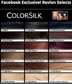 Revlon Hair Color Shades Chart Google Search
