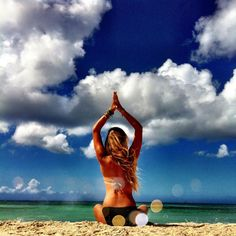 Beach + Yoga = Pure Bliss! I can honestly say nothing relaxes me like the sounds of the ocean tide rolling in an out and when you add yoga to the mix you have one happy girl! I wish more people shared a passion for yoga like I do, the world would be a more peaceful place to live! Namaste.
