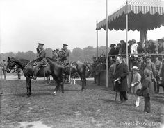 Since 1748, #TroopingTheColour has marked the Sovereign's Birthday. Here's King George V taking the Salute in 1920.