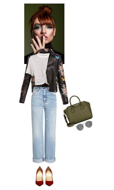 Untitled #850 by krahmmm on Polyvore featuring polyvore fashion style T By Alexander Wang Bagatelle Alexander McQueen Givenchy Ray-Ban clothing