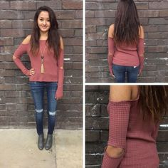 We are obsessed with this marsala colored cold shoulder! Especially the elbow slits! - $30 #winterfashion #winter  #fashionista #shoplocal #aldm #apricotlaneboutique #apricotlanedesmoines #shopaldm #desmoines #valleywestmall #fashion #apricotlane #newarrival #sweaterweather #shopalb  #ootd #westdesmoines  #shopapricotlaneboutiquedesmoines #ontrend