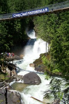 Crazy Creek Falls in July near revelstoke, bc.  Paid admission