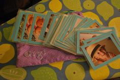 Homeade memory game with pictures of family members. Great gift, too!
