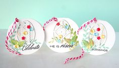 Easter Tags by Danielle Flanders for Papertrey Ink (February 2015)