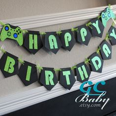 CUSTOM Video Game Birthday Banner  I Am 1 Name Happy by GCBaby