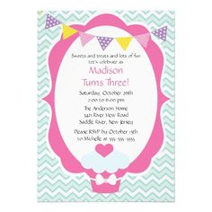 flower vintage color girl birthday party invitation by meaganadair 175 invitations announcements cards prints pinterest flower vintage