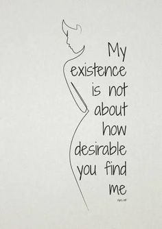 Body Positive Quote and Silhouette