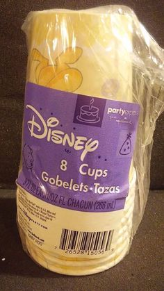 DISNEY PARTY FAVORS 8 9OZ. CUPS BABY ROO WIINNIE THE POOH #Disney #NEWBABY