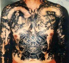7d01828a9 35 Mexican Mafia Tattoos Designs ideas meaning of 2018 | Goosetattoo  Gangster Tattoos, Aztec Warrior