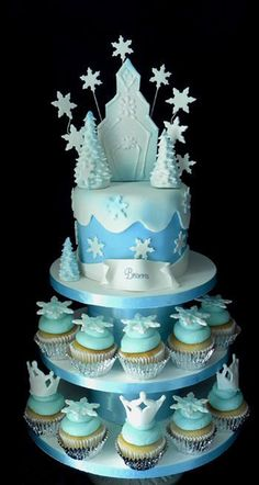 ice castles cake Cerca con Google Frozen party Pinterest