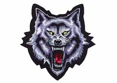 Product Number: A highly detailed embroidered mini patch by Lethal Threat Designs. This mini patch features a thick black border for easy sowing application, and a heat seal back for iron on application. This mini patch is X in the packaging. Biker Accessories, Custom Embroidered Patches, Buy Motorcycle, Iron On Patches, Wolf, Lion Sculpture, Batman, Statue, Superhero