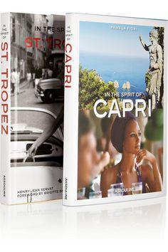 Capri & Saint Tropez coffee table books. - from www.rstyle.me