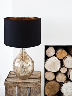 Beautiful Floral Glass Lamp and Shade - would be great to have a shade colour option