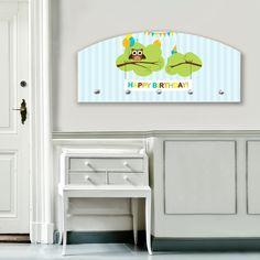 Design Wandgarderobe Flurgarderobe Holz Garderobe Motiv Geburtstagsparty Flur | eBay