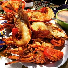 Totally ready to go beast mode on these tasty, crunchy delicioso #PuertoNuevo lobsters! #SundayFunday in #RosaritoBeach! www.discoverbajacalifornia.com  (adventure by Ricky Chu)