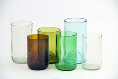 Tumblers made from beer and wine bottles