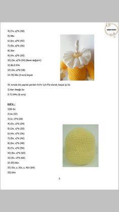 PALYAÇO Amigurumi For Beginners, Crochet Disney, Crochet Doll Pattern, Amigurumi Doll, Kaftan, Origami, Free Pattern, Crochet Hats, Dolls