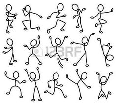Because stick people are fun to draw.Movement In Art Clipart - ClipartFox Art Clipart, Doodle Drawings, Easy Drawings, Doodle Art, Doodle Sketch, Drawing For Kids, Art For Kids, Stick Figure Drawing, Sketch Notes