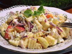 Sýrový salát s jablky Pasta Salad, Potato Salad, Food And Drink, Appetizers, Potatoes, Ethnic Recipes, Crab Pasta Salad, Appetizer, Potato