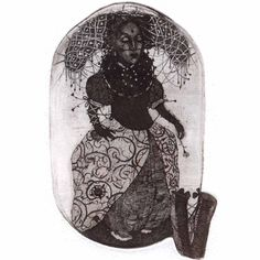 Etching 'Paola'  limited edition original etching by GrazvydaArt