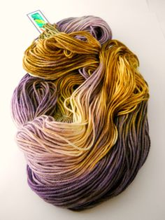 4 Ply Superwash Merino Hand Dyed Yarn Olive n by designsbyamber