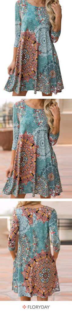 Vestido de verano vacaciones lino size-plus túnica flores patrón Alt-rosa L XL XXL