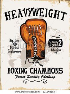 handmade illustration vector sketch athletics  boxing gloves logo with wording for apparel.