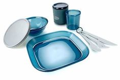 Outdoor Tableware 181383: Gsi Outdoors Infinity 1 Person Table Set Camping Dishes Place Setting, Blue BUY IT NOW ONLY: $33.95