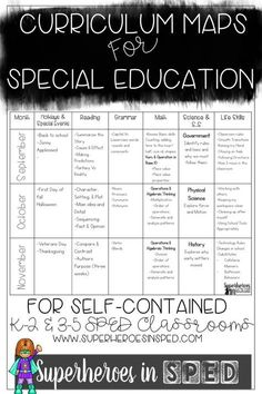Do you struggle with finding appropriate programming and a road map for your special needs students! Look for further! and 35 curriculum map and programming suggestions on superheroesinsped com is part of Special education curriculum - Curriculum Mapping, Curriculum Planning, Lesson Planning, Geek Culture, Life Skills Classroom, Classroom Ideas, Classroom Libraries, Autism Classroom, Future Classroom