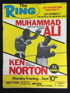 Vintage 1973 The Ring Muhammad Ali Boxing Magazine Fight Ken Norton Alis Revenge