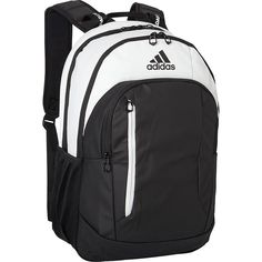 adidas Mission Plus Backpack - Black/Neo White - School Backpacks (2,105 DOP) ❤ liked on Polyvore featuring men's fashion, men's bags, men's backpacks, black and adidas