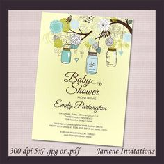 Mason Jar Baby Shower Invites!