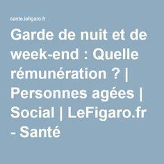 Garde de nuit et de week-end : Quelle rémunération ?   Personnes agées   Social   LeFigaro.fr - Santé
