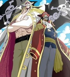 "Gol D. Roger & Edward ""Whitebeard"" Newgate. The Pirate King and The Pirate King runner up!!!!!"