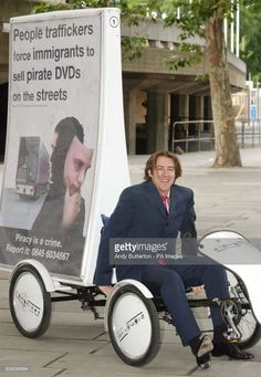 TV and radio presenter Jonathan Ross poses for photographers during a photocall to launch an industry-wide DVD anti-piracy campaign outside the National Film Theatre on London's Southbank. The campaign is funded by film distributors, retailers and other businesses affected by the crime.