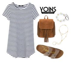 """Yoins 25"" by katerina-rampota ❤ liked on Polyvore featuring Lana and Birkenstock"
