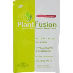 Plantfusion Chocolate Raspberry Packets - Case of 12 - 30 Grams - If youre looking for a tasty, quick on-the-go snack thats high in protein and light on your stomach, then youve got to try PlantFusion. Their shakes are made with raw, organic, gluten-free, GMO-free ingredients and pack 21g of protein and only 120 calories per serving. The folks at PlantFusion have crafted this premium nutritional shake from 100% plant sources using nutritionally-dense ingredients like artichoke, quinoa and…