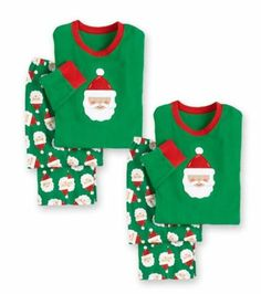 CHRISTMAS Pajamas For Kids Personalized Merry Santas pj's Red Green NEW