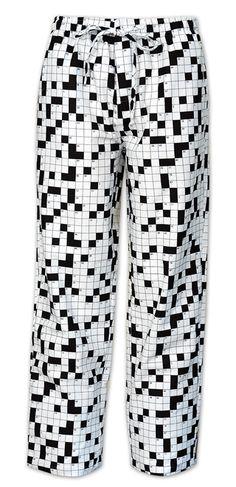 "The Cat's Pajamas Men's ""Crossword"" Flannel Pajama Pant"