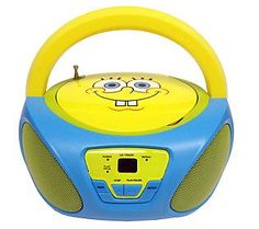 Nickelodeon Character CD Boombox with AM/FM Radio
