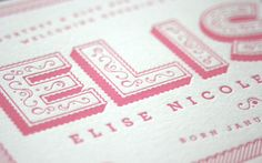 Love the simple yet feminine design of these birth announcements. Beautiful!
