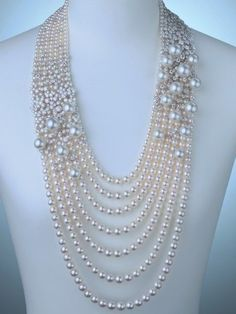 gorgeous statement pearl necklace design ideas (5)