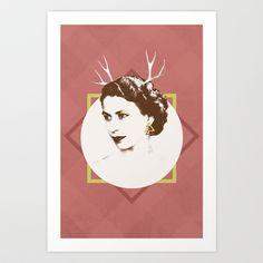 Elizabeth II : The Bold Art Print by Zeke Tucker - $17.68