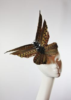 The Libertarian — Fleur Pheasant Feather Butterfly Fascinator £140