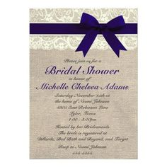 #weddinginvitation #weddinginvitations (Navy Blue Lace Burlap Bridal Shower Invitation) #BurlapBridalShower #BurlapLaceBridalShower #CountryChicBridalShower #CountryWedding #LaceBridalShower #PopularBridalShower #RusticBridalShower #RusticWedding #VintageBridalShower #VintageWedding is available on Custom Unique Wedding Invitations store http://ift.tt/2clHMGJ