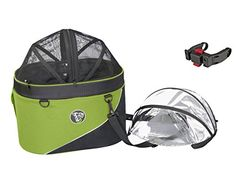 DoggyRide Cocoon Bike Basket for Pets Green >>> Check out the image by visiting the link.