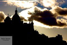 Photo: Edimbourg au couche de soleil.